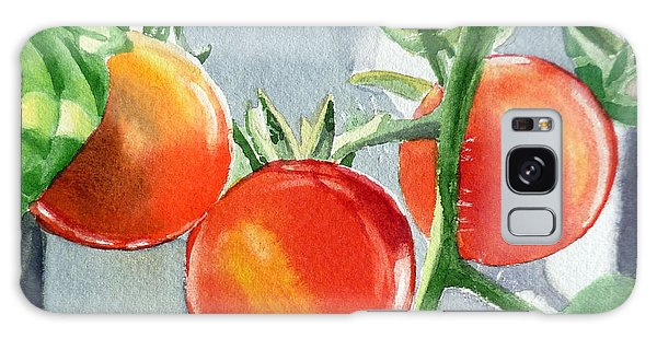 Garden Cherry Tomatoes  Galaxy Case by Irina Sztukowski