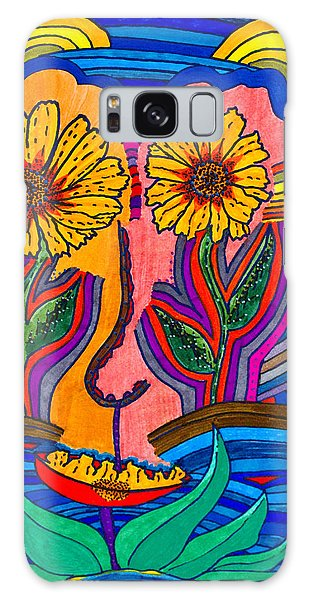Garden Face - Lotus Pond - Daisy Eyes Galaxy Case