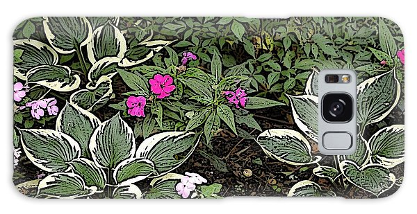 Garden Flowers Galaxy Case by Donald Williams