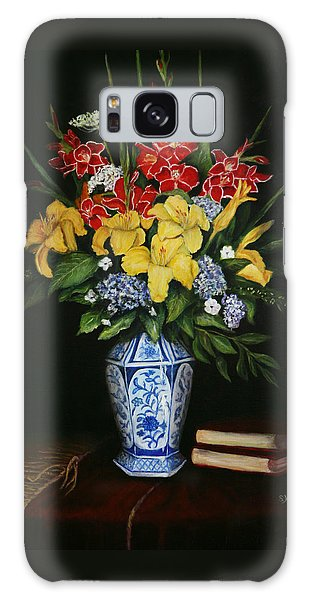 Garden Flowers  Galaxy Case by Sandra Nardone