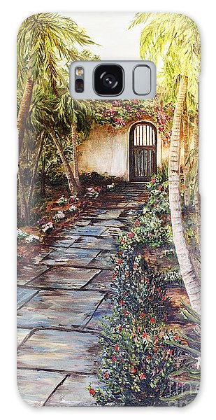 Garden Gate To Rosemary's Cottage Galaxy Case