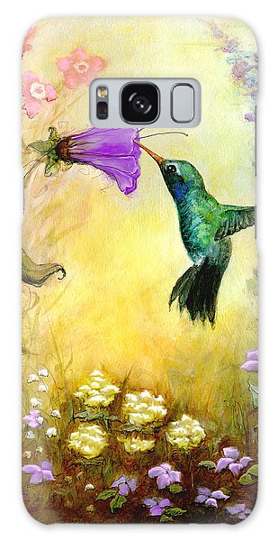 Garden Guest In Lavender Galaxy Case