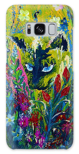 Garden Hunter Cat Painting Galaxy Case