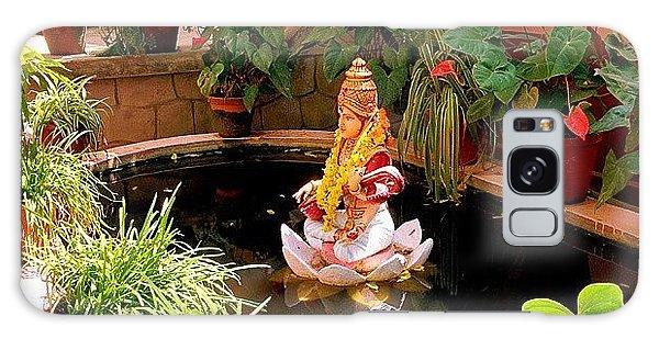 Religious Galaxy Case - Garden In Amma's Ashram by Raimond Klavins