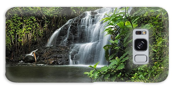 Garden Isle Waterfall Galaxy Case by Hawaii  Fine Art Photography