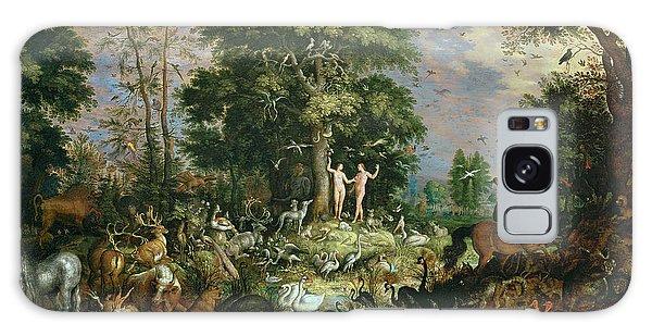 Ostrich Galaxy Case - Garden Of Eden by Roelandt Jacobsz Savery
