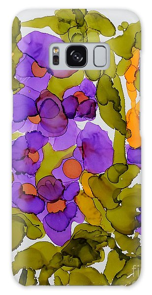 Garden Of Hollyhocks Galaxy Case