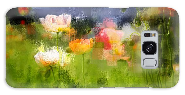 Garden Of Poppies Galaxy Case