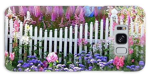 Garden On Mackinac Island Galaxy Case