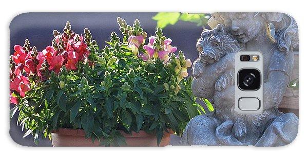 Garden Statue Galaxy Case by Penni D'Aulerio