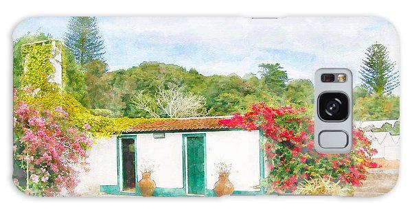 Garden Watercolor Painting Galaxy Case