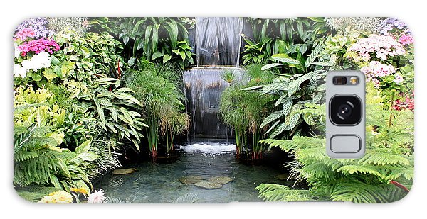 Garden Waterfall Galaxy Case