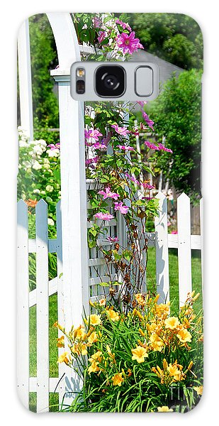 Garden With Picket Fence Galaxy Case