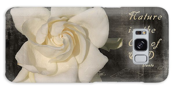 Gardenia And Quote Galaxy Case