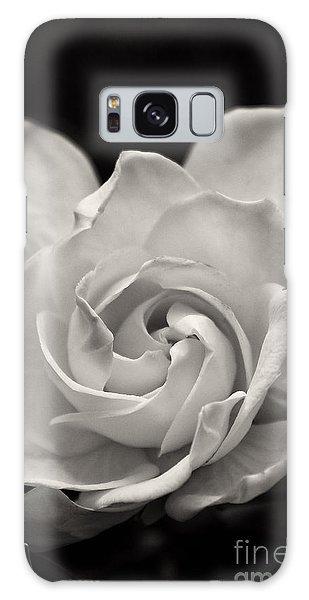 Gardenia Bloom In Sepia Galaxy Case