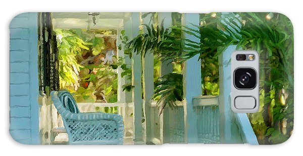 Gardens Porch In Key West Galaxy Case