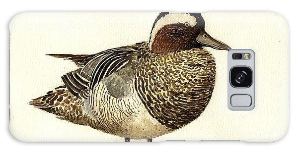 Duck Galaxy Case - Garganey Duck by Juan  Bosco