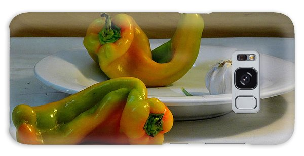 Garlic And Peppers Galaxy Case