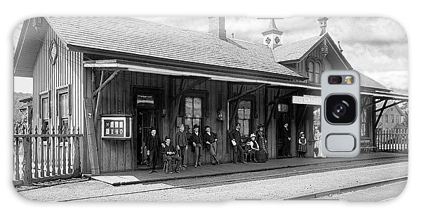 Garrison Train Station In Black And White Galaxy Case