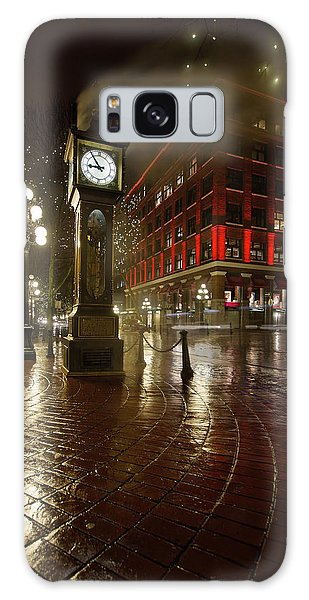 Gastown Steam Clock On A Rainy Night Vertical Galaxy Case