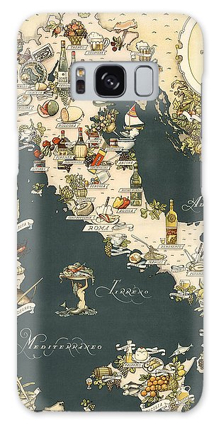 Gastronomic Map Of Italy 1949 Galaxy Case