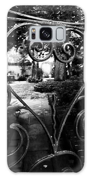 Galaxy Case featuring the photograph Gated Heart by Kelly Hazel