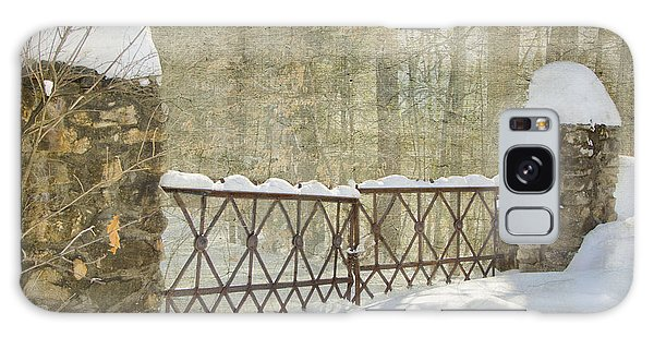 Gated In The Snow Galaxy Case by Betty  Pauwels