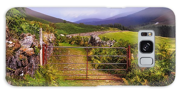 Gates On The Road. Wicklow Hills. Ireland Galaxy Case