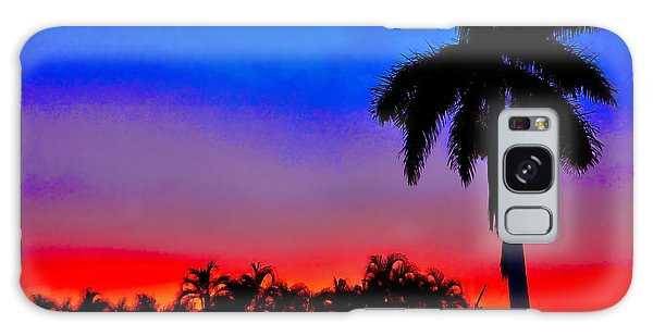 Gator Nation Sunset Galaxy Case by Don Durfee