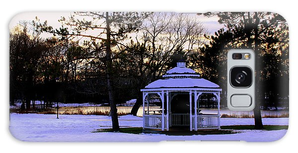 Gazebo  In Winter Wilmington Ma Galaxy Case