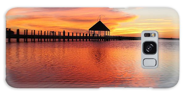Gazebo's Sunset Reflection Galaxy Case