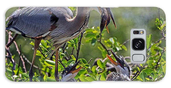 Great Blue Heron Lunch Alfresco Galaxy Case