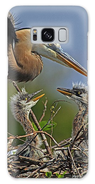 Great Blue Heron Twins Galaxy Case