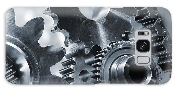 Gears Cogs And Chains Galaxy Case by Christian Lagereek