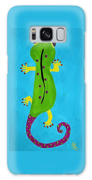 Galaxy Case featuring the painting Gecko Gecko by Deborah Boyd