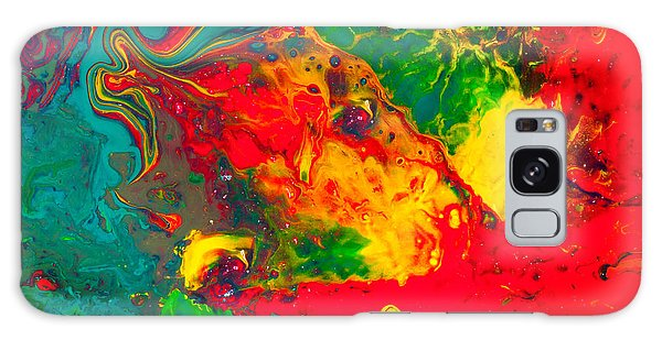 Gecko - Colorful Abstract Painting Galaxy Case