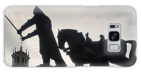 Gediminas Statue In Vilnius At Sunset Galaxy Case by Rudi Prott