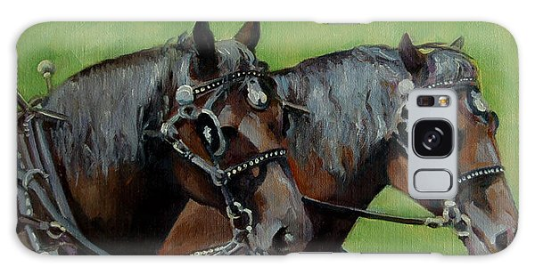 Gee And Haw Galaxy Case by Pattie Wall