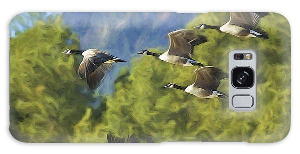 Geese On A Mission Galaxy Case