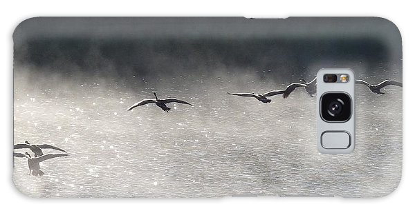 Geese Over Burgess Lake Galaxy Case