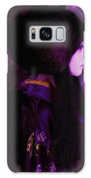 Geisha In Purple And Pink Galaxy Case