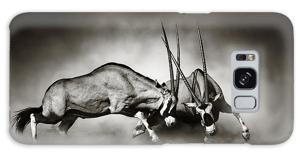 Gemsbok Fight Galaxy Case by Johan Swanepoel