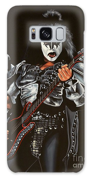 Metal Galaxy Case - Gene Simmons Of Kiss by Paul Meijering