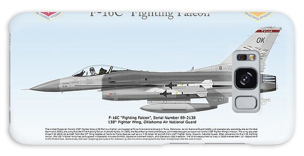 Tulsa Ok Galaxy Case - General Dynamics F-16c Fighting Falcon by Arthur Eggers