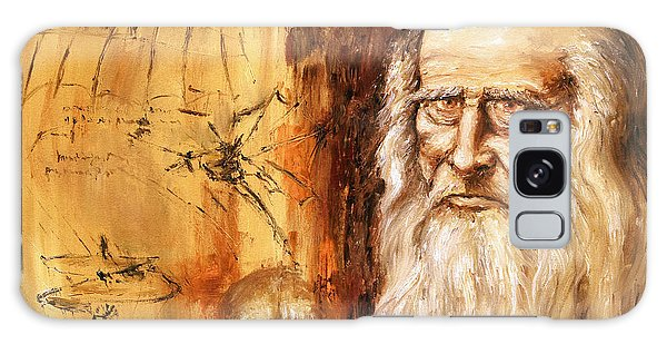 Genius   Leonardo Da Vinci Galaxy Case by Arturas Slapsys