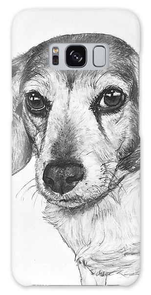 Gentle Beagle Galaxy Case by Kate Sumners