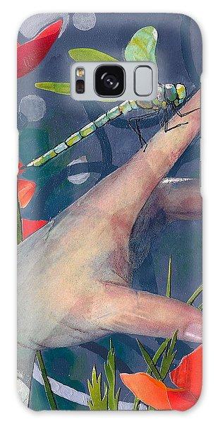 Gentle Landing Galaxy Case by Robin Birrell