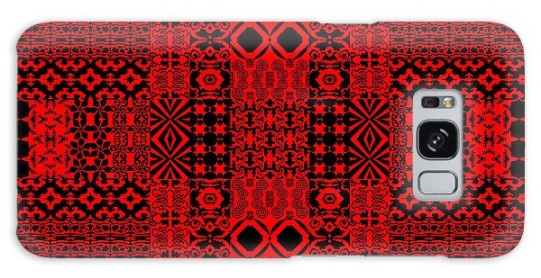 Geometric Abstract In Red Galaxy Case