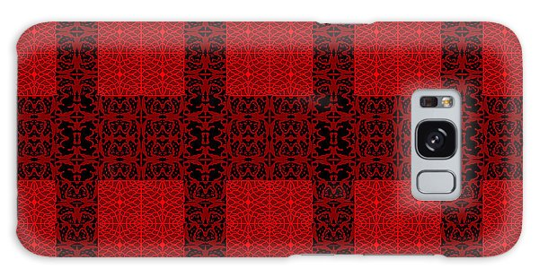 Geometric Abstract Stereo In Red Galaxy Case