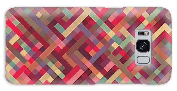 Geometric Lines Galaxy Case by Mike Taylor
